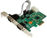 StarTech.com 2-poorts industriële PCI Express (PCIe) RS232 seriële kaart met voedingsuitgang en ESD-beveiliging