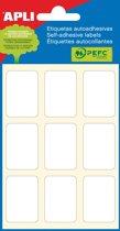 90x Apli witte etiketten 22x32mm (bxh), 54 stuks, 9 per blad (2679)