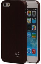 Donker Bruin Hout QY TPU Cover Case voor Apple iPhone 6/6S Hoesje
