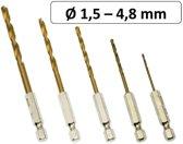 Titanium HSS boren 5 delige bitboren bit boor set