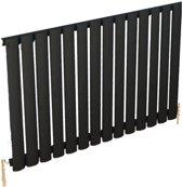 Design radiator horizontaal staal mat zwart 60x82,5cm 757 watt - Eastbrook Tunstall
