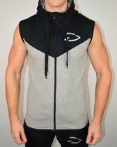 Mouwloos Fitness Vest | Grijs / Zwart - Disciplined Apparel