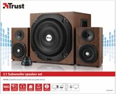 Trust Vigor 2.1 - Subwoofer Speakerset - Bruin/Zwart