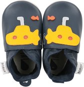 Bobux babyslofjes Duikboot blauw geel - maat 18