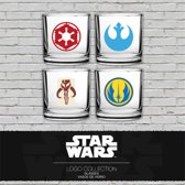 STAR WARS - Set 4 Scotch Glass - Classic Logo Collection