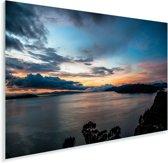 Schemerig Isla del Sol Bolivia geboorteplaats zonnegod Inti Plexiglas 120x80 cm - Foto print op Glas (Plexiglas wanddecoratie)