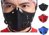 Stofvrij Masker Voor Op De Fiets Of Motor - Ademend Ventielmasker - Fijnstof Mondkapje – Motor Masker – Ski Masker - Zwart