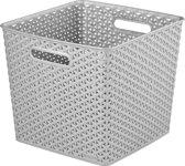 Curver My Style nestbaar mandje Opbergmand - XL - Vierkant - Zilver