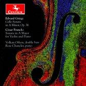 Grieg: Cello Sonata in A minor, Op. 36; Franck: Sonata in A major, for violin and piano