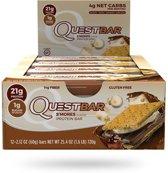 Quest Nutrition Quest Bar - Eiwitreep - 1 doos (12 eiwitrepen) - S'Mores.