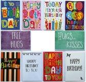 Verjaardagskaarten Set van 10