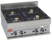 Modular 650 gasfornuis met 4 kookpitten