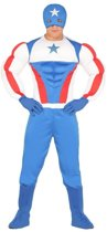 Superheld kapitein Amerika kostuum voor heren - verkleedpak M (48-50)