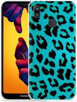 Huawei P20 Lite Hoesje Luipaard Groen Zwart