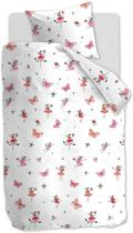 Beddinghouse Kids Butterfly Girl - Dekbedovertrek - Eenpersoons - 140x200/220 cm - Roze