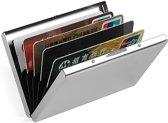 Creditcardhouder - RFID bescherming - Rvs Metal Case Box - portemonnee - zilver