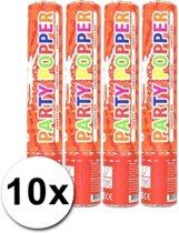 10 confetti kanonnen rood 28 cm - confetti shooters