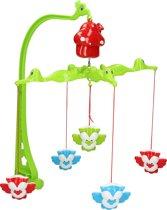 Babymobiel met Geluid voor Boven de Box en Wieg – Krokodillen en Uilen – 54x23x3 cm | Baby Mobiel met Muziek en Dieren