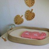 Bamboeloe verschoonmand baby katoen