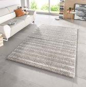 Hoogpolig modern vloerkleed Nova -grijs 80x150 cm