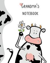 Grandma's Notebook: 100 Page Lined Notebook, Notes, Note Pad, Notebook Gift, Journal, Jotter, Notebook Gift, Personal Mothers Day, Easter,