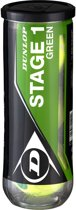 Dunlop Stage 1 tennisballen 3-tin groen/geel