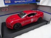 Maisto - Chevrolet Camaro SS 2016 Kleur Rood Schaal 1:18