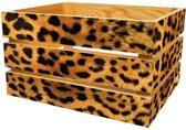 Houten Fietskrat Jaguar Print Dier