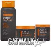 Cantu Men's Hair Care 3-piece Set (3 in 1 /Leave-In Conditioner /Cream Pomade)