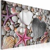 Schilderij - Pebbles of love
