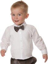 Babyoverhemd  gesmogd wit met lange mouwen-80