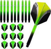ABC Darts Dartflights en Dartshafts Medium - Tribal groen - 3 sets