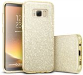 Samsung Galaxy S8 Hoesje - Glitter Backcover - Goud