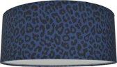 Plafondlamp Kinderkamer Luipaard blauw   plafonnière kinderkamer dierenprint