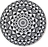 Muismat Mandala Zwart Wit | Muismat Rubber | 20 x 20 cm