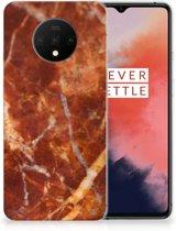 TPU Siliconen Hoesje OnePlus 7T Marmer Bruin