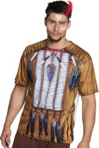 3 stuks: Fotorealistisch shirt - Indiaan man - Large