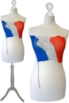 French flag paspop met witte sparkling driepoot  40/42