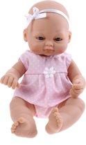 Falca Babypop Newborn 16 Cm Meisjes Roze Met Stippen