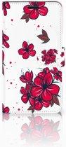 Sony Xperia T3 Bookcase Design Blossom Red