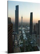 Zonnestralen over Guangzhou Aluminium 40x60 cm - Foto print op Aluminium (metaal wanddecoratie)