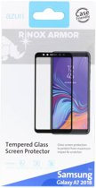 Azuri screenprotector flat tempered glass RINOX ARMOR - Voor Samsung Galaxy A7 (2018) - Zwart