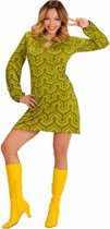 Groovy groen jaren 70 kostuum voor vrouwen - Volwassenen kostuums