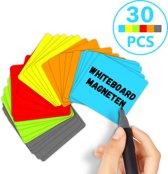 Scrum Whiteboard Magneten - 30 stuks - Magnetische Memoblaadjes - 5 x 5 cm - 6 Kleuren