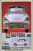 DAF Daffodil 1964 reclame auto reclamebord 10x15 cm