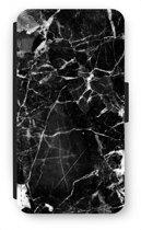 Samsung Galaxy S6 Flip Hoesje - Zwart Marmer 2