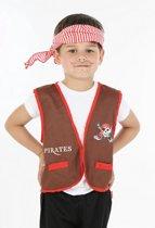 """Lucius piraat set, rood (5-7 jaar) (110-122 cm)"""