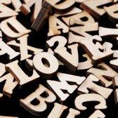 Decoratie figuurtjes Letters alfabet Hout - 26 stuks 15mm