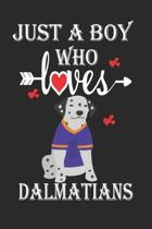 Just a Boy Who Loves Dalmatians: Gift for Dalmatians Lovers, Dalmatians Lovers Journal / Notebook / Diary / Birthday Gift