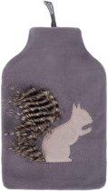 Warmwaterkruik - Fleece hoes met eekhoorn